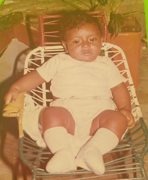 Farid de 6 meses, cuando fue bautizado en Codazzi (1983). Crédito: Cortesía familiares. Archivo Particular.