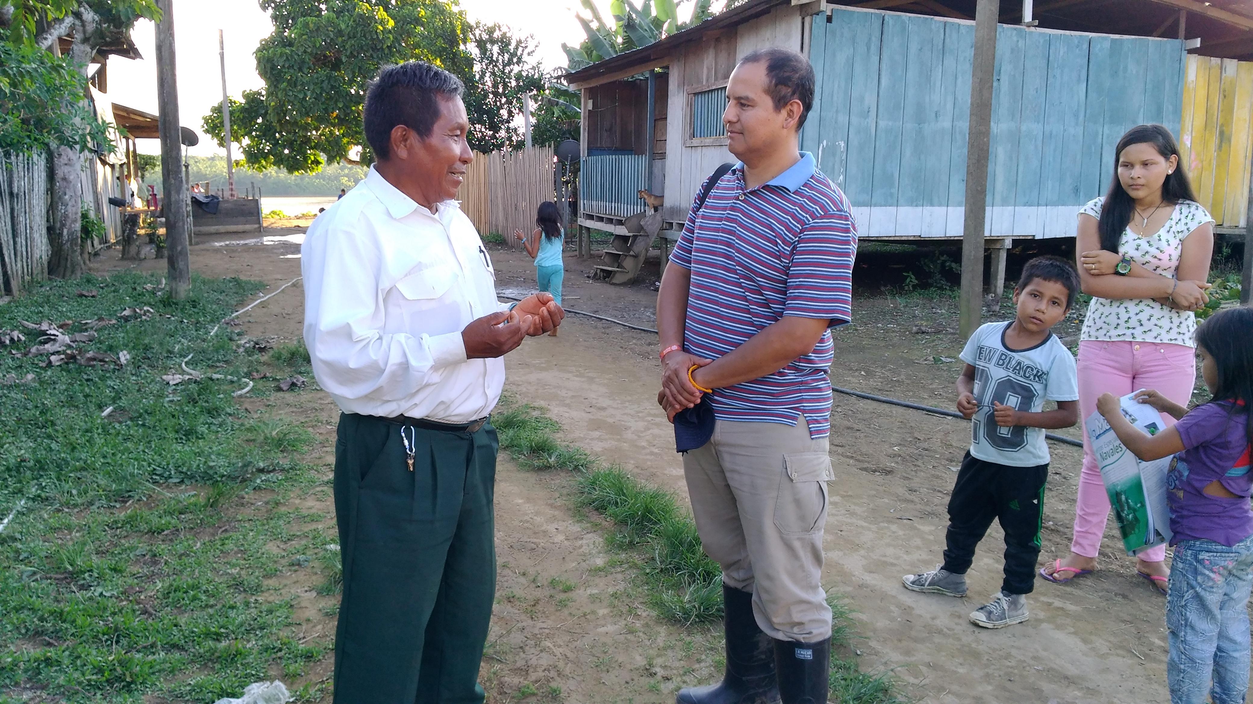 Don Humberto Cote explicó la situación de su EPS Mallamas. Foto: Mauricio Orjuela