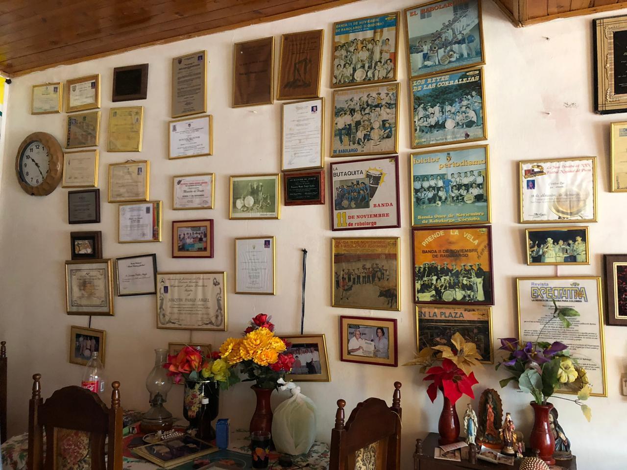 Casa del maestro Joaquín Pablo Argel en Cereté. Foto: Laura Ramírez León.