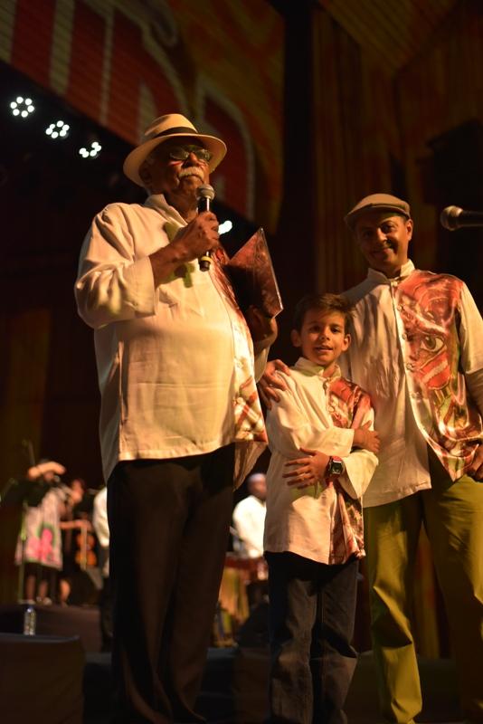 Leonidas,Simón y Boris Ocampo, tres generaciones de Tumacuba. Foto: Cortesía Agrupación Tumacuba