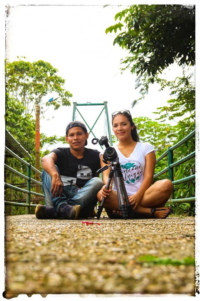 Alex Rufino y María Murillo, integrantes del colectivo Aborigen.