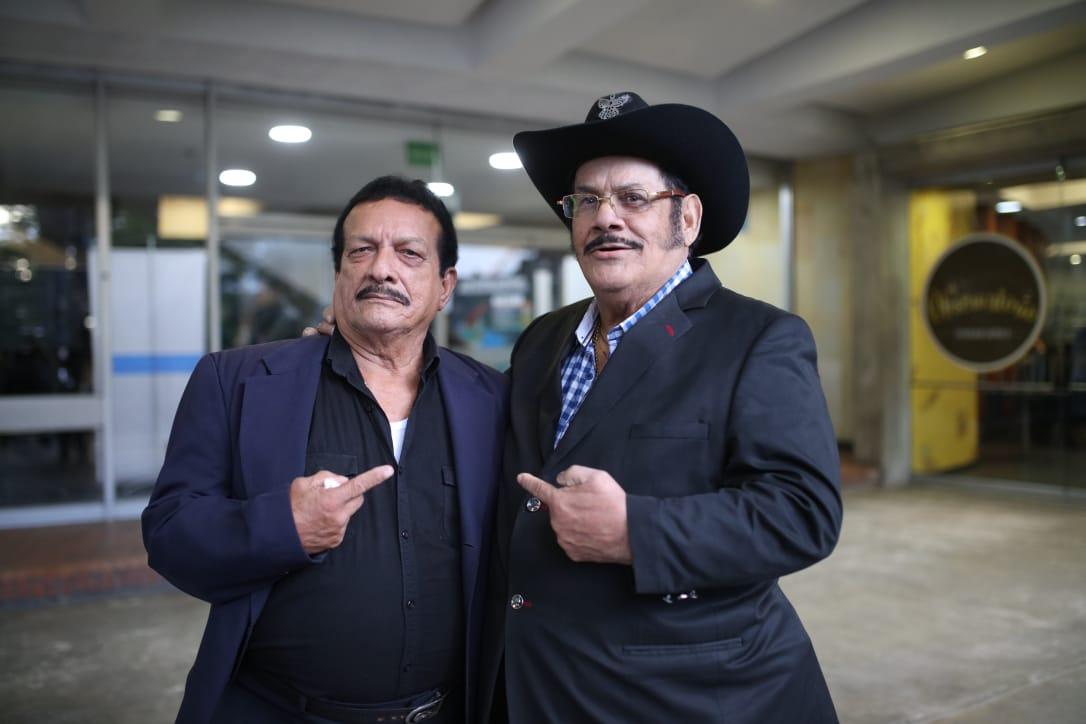 José Velásquez y Aníbal Velásquez, dos grandes exponentes de la cumbia en Colombia y América Latina. Foto: Sandro Sánchez. RTVC-Sistema de Medios Públicos.