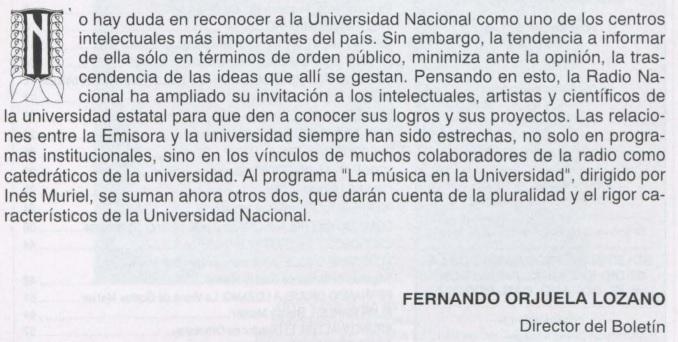 Boletín de Programas, mayo de 1990