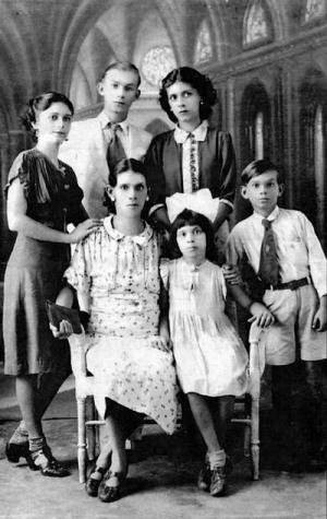 Guillermo Buitrago y su familia.
