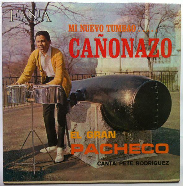 Para la portada del álbum se fotografió a Johnny Pacheco frente a unos timbales junto al cañón del Riverside Park de Nueva York.