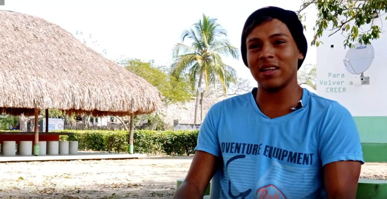 Carlos Cohen, joven músico de El Salado