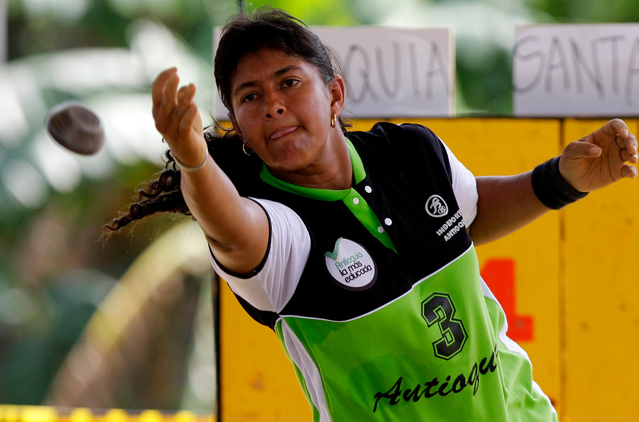 Merly Meneses, jugadora profesional de tejo de Antioquia. Foto: Colprensa. Julio 2017.