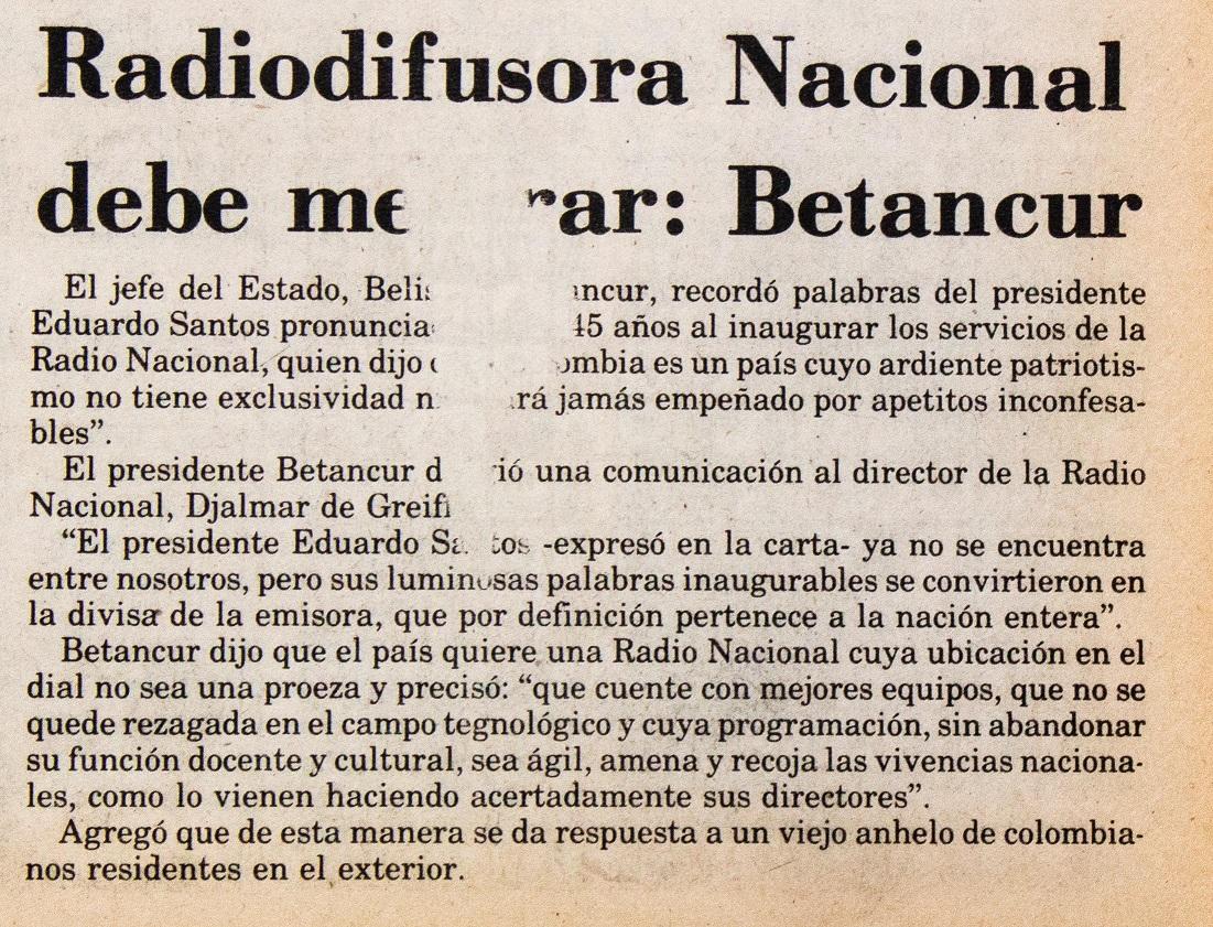 Periódico El Siglo, 2 de febrero de 1985.