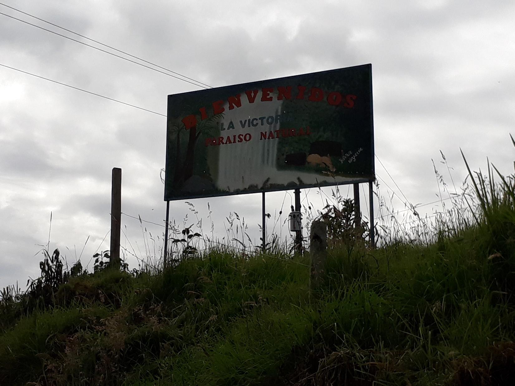 Corregimeinto La Victoria en el municipio de Ipiales. Foto: Ingrid García.