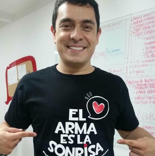 El comediante Dany Alejandro Hoyos Sucerquia. Foto: Twitter Alejandro Hoyos Sucerquia.