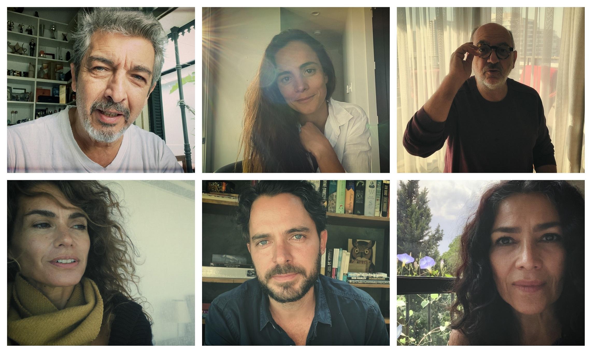 Los actores Ricardo Darín (Argentina), Alicia Braga (Brasil), Luis Gnecco (Chile), Flor Raggi (Argentina), Manolo Cardona (Colombia) y Dolores Heredia (México).