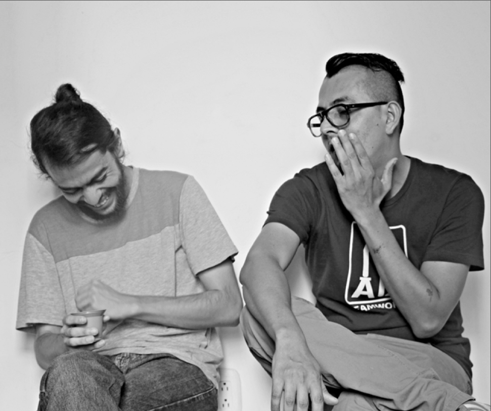 Foto cortesía:  Jess Ar- César Salazar y Mauricio Robledo son coordinadores de la Muestra de Teatro Alternativo de Pereira.