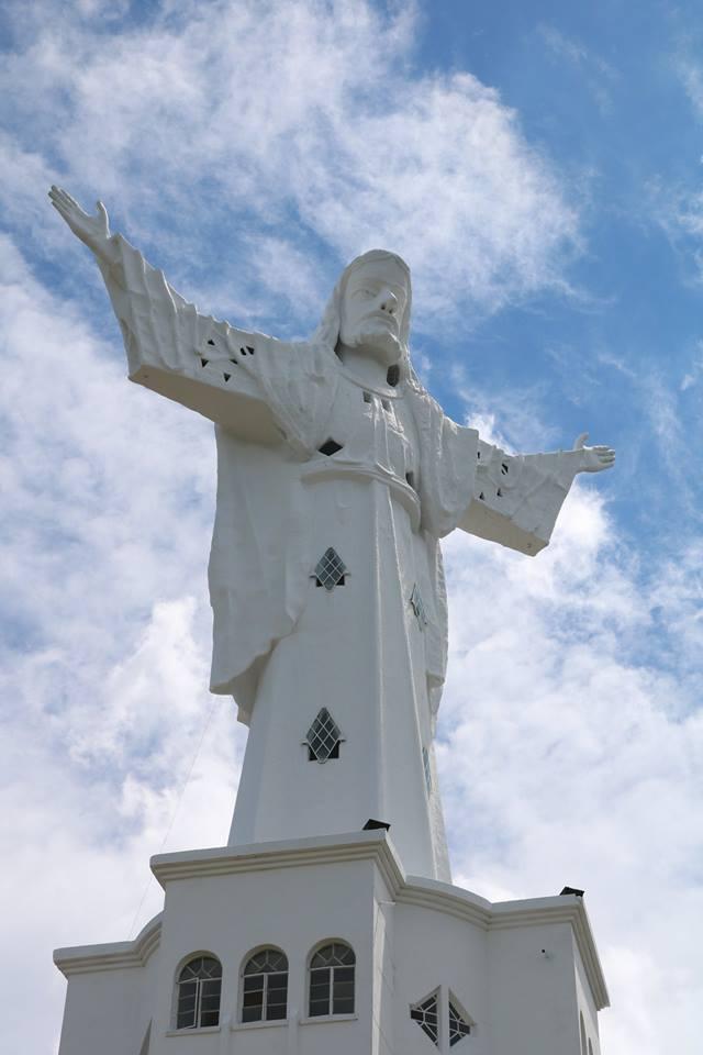 El Cristo Redentor de Belalcázar se construyó en 1954. Foto: Foto Cortesía Alcaldía de Belalcázar.