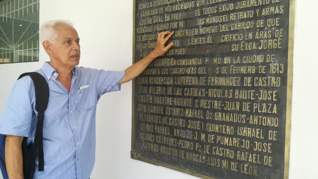 Francisco Valle Cuello, director del Archivo Histórico de Valledupar. Foto: Humberto Carrillo.