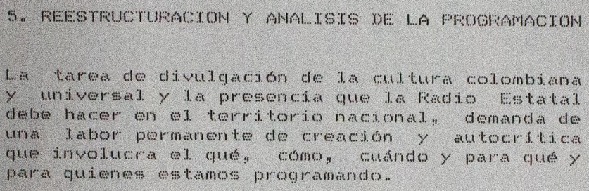Informe La Radiodifusora Nacional de Colombia: la cultura para la deliberación, la recreación y el desarrollo social.