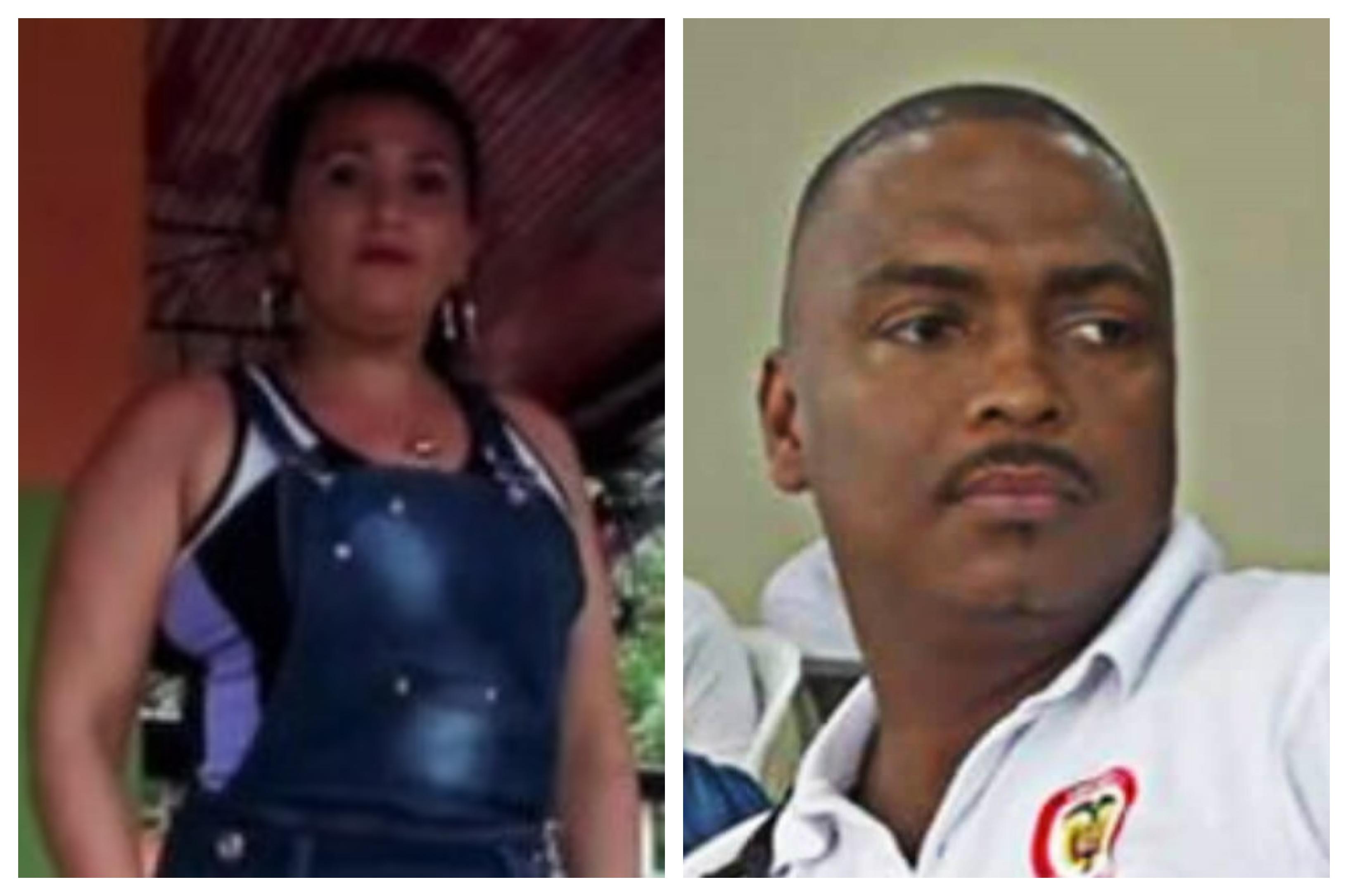 La lideresa Yissela Trujillo y el coordinador del Paro Cívico de Buenaventura, Carlos Tovar.