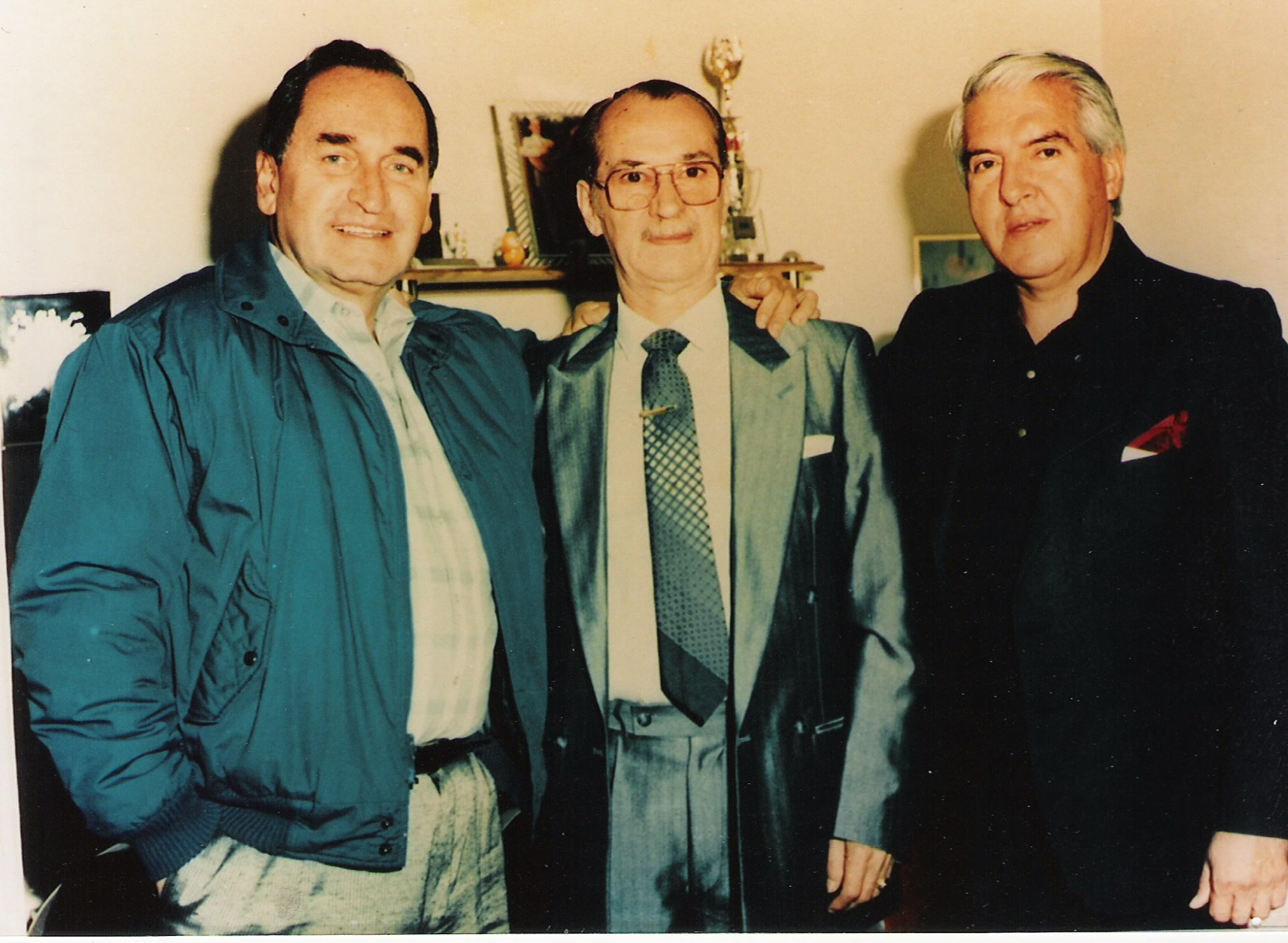 Foto: Noel Ramírez, entre Lizardo Díaz