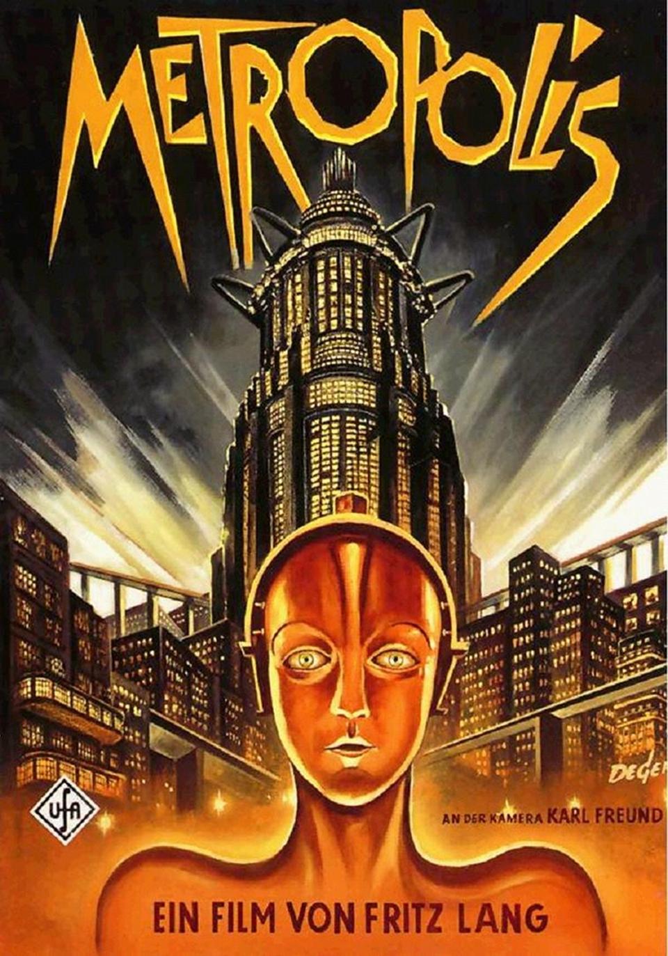 Poster oficial de la película Metrópolis.