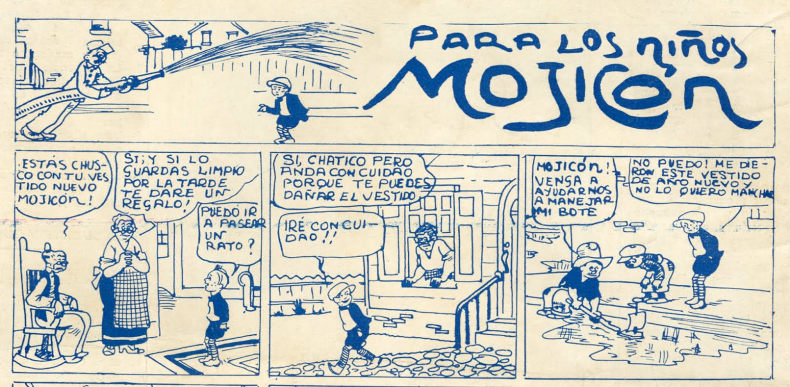 Mojicón panel, Colombia's first comic strip