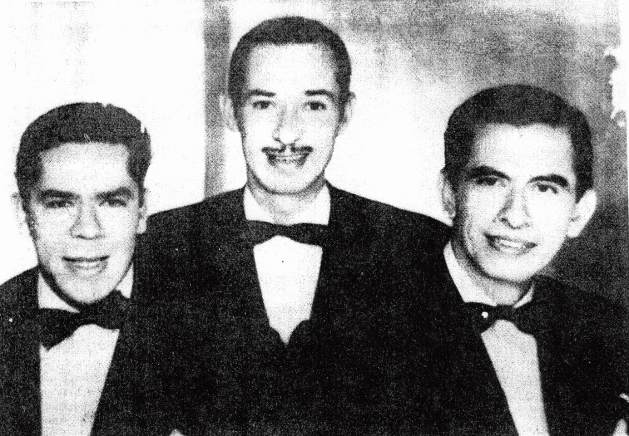 Foto: De izq. a der: Francisco Bedoya, Noel Ramírez y Obdulio Arias. Cortesía del Centro de Documentación e Investigación Musical del Quindío.