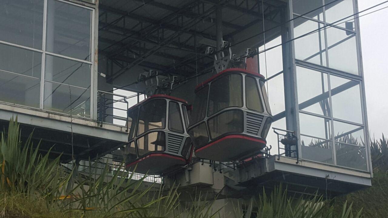 El cierre del cable en el 2012, se debió a un daño en el reductor del motor de la estación Yarumos. Foto: Ana María Mesa.