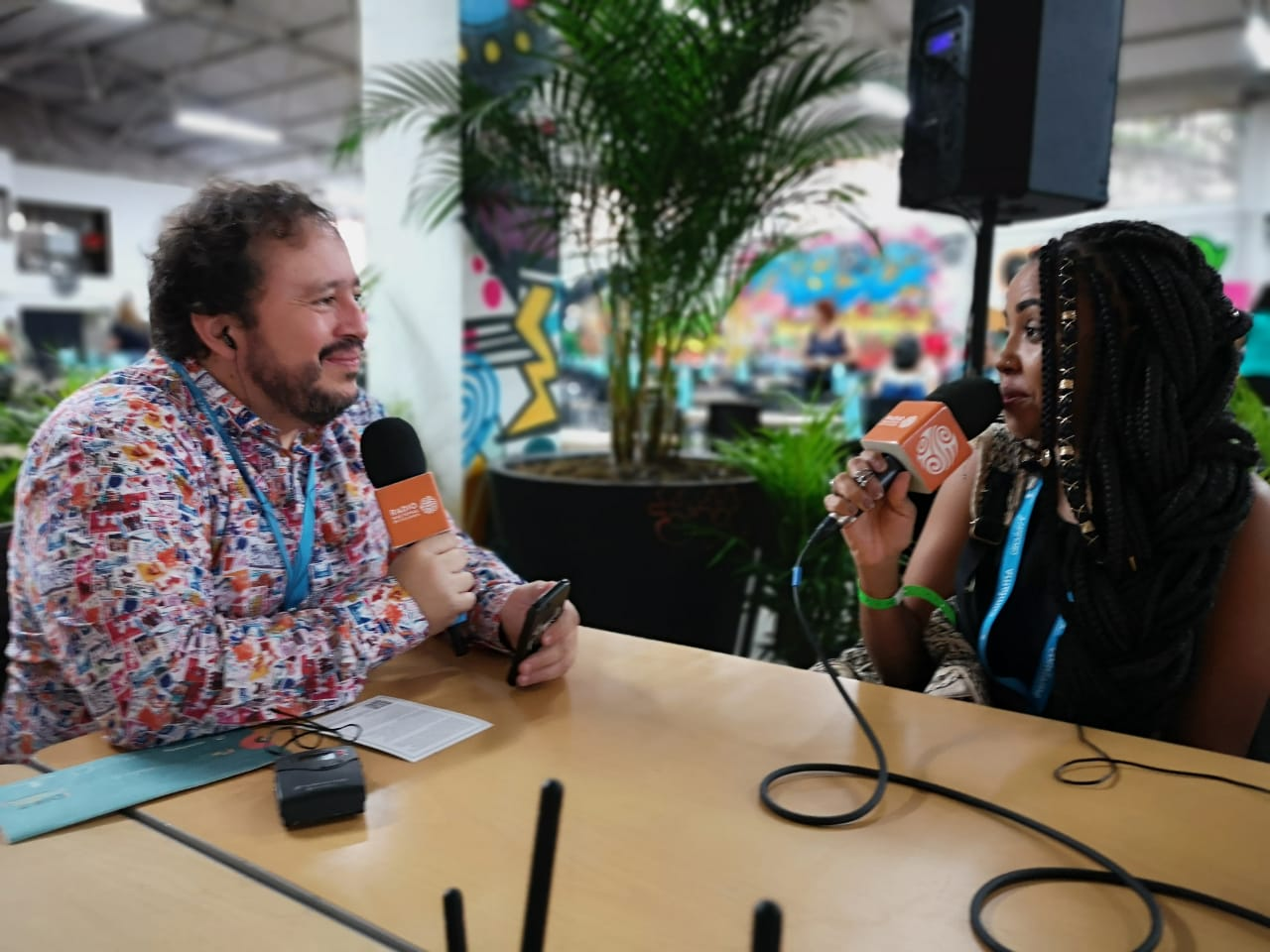Entrevista con la artista brasilera Aiace desde Circulart. Foto: Jairo Jiménez.
