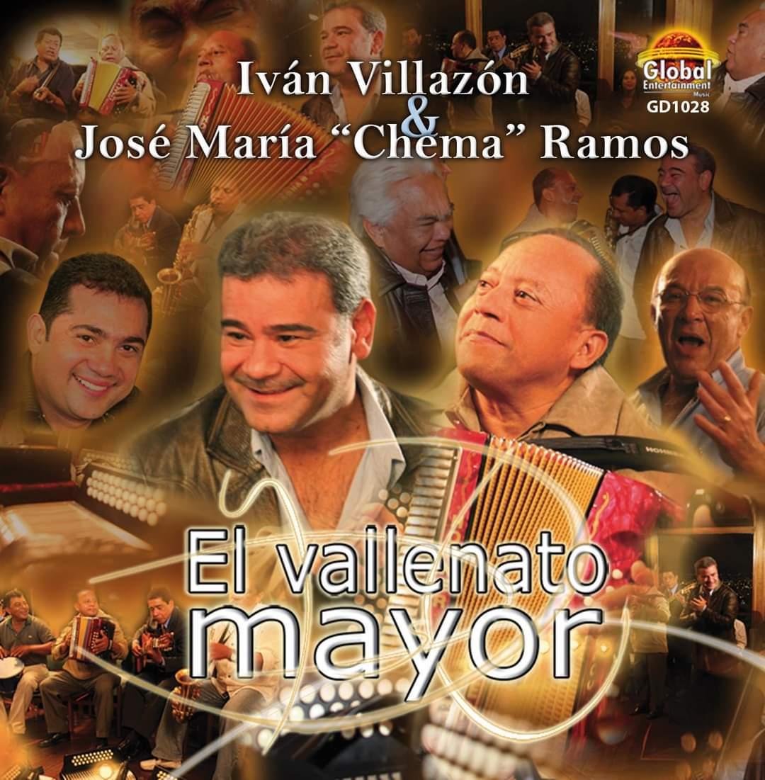 Carátula del álbum 'El vallenato mayor' de Iván Villazón junto a José María 'Chema' Ramos.