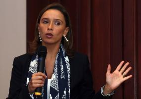 María Consuelo Araújo, secretaria de Integración Social de Bogotá. Foto. Colprensa. Mayo 2017.