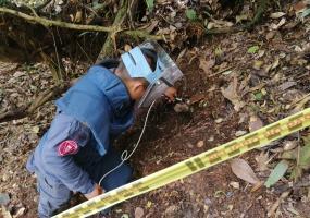 Fotos: Coordinación de Prensa Batallón de Desminado Humanitario No. 2.