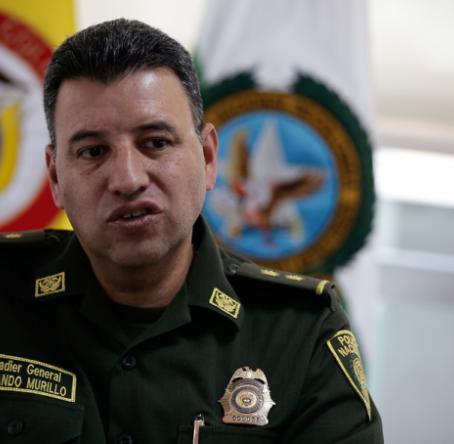 General Fernando Murillo, director del Gaula de la Policía. Foto: Colprensa
