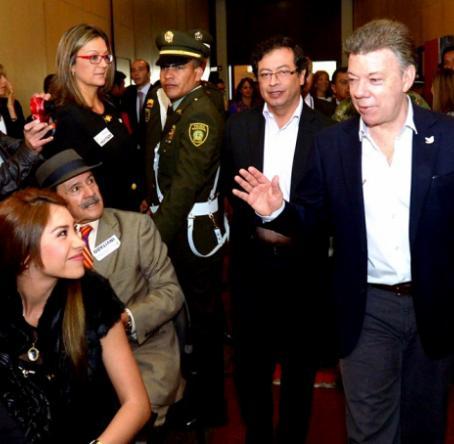 El presidente Santos a su entrada al Foro 'El Metro en Bogotá: ¿Ilusión o Realidad?'