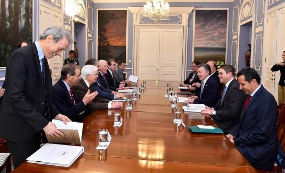 El apoyo al plan Paz Colombia es uno de los temas tratados durante la reunión del Presidente Santos con una delegación de congresistas de Estados Unidos. Foto: Colprensa