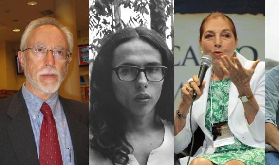 Los escritores John Maxwell Coetzee, Andrés Caicedo, Marina Colasanti y Richard Ford.