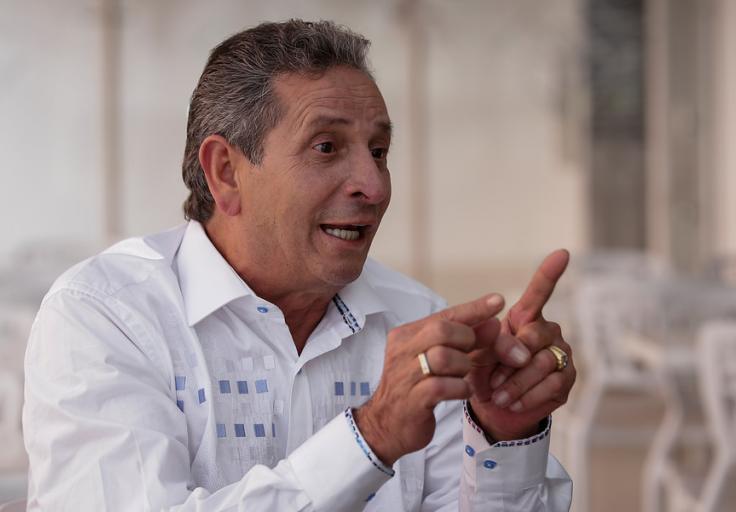Darío Gómez, uno de los representantes de la música de despecho en Colombia. Foto: Colprensa. Octubre 2018.