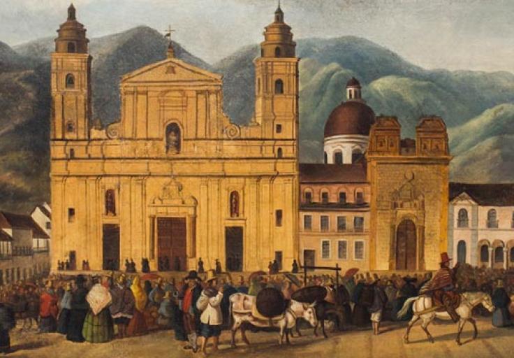 Plaza Mayor de Bogotá de Francisco Castillo / Foto: © Museo de la Independencia / Señor J. Fotografía