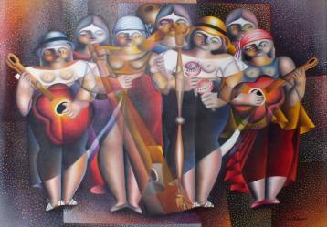 Pintura del artista César Augusto Rincón Porras 2011