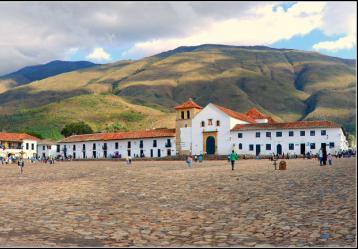 Plaza principal de Villa de Leyva, sede del Festival de Música Antigua en esta Semana Santa. Foto: Mario Carvajal.