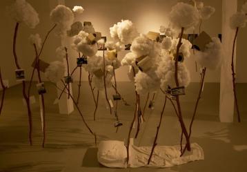 """Fotografía facilitada por el artista colombiano Carlos Agámez de su instalación """"Un pedazo de cielo"""" // Foto: EFE/Carlos Agámez"""