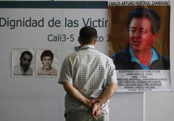 Foro Nacional sobre víctimas en Cali.  Foto: EFE