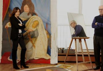 Fernando Botero en su estudio. Foto: Oleg Covian - Cortesía Lina Botero.
