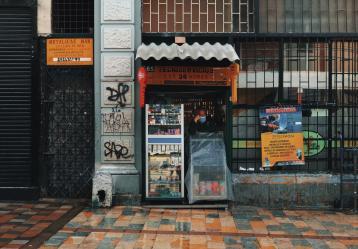 Calles del centro histórico de Bogotá. Fotografía: Nicolás Sastoque