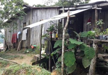 Foto: Vivienda de los menores asesinados, cedida por la Defensoría del Pueblo