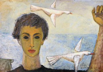 Cecilia y los pájaros, 1954. Colección MAMC