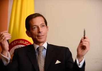 Felipe García, magistrado del CNE. Foto: Colprensa. Febrero 2018.