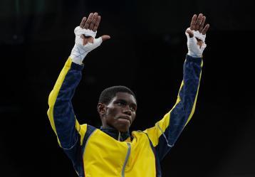 Yuberjer Martínez, boxeador colombiano. Foto: Colprensa