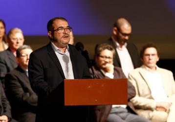El jefe guerrillero Rodrigo Londoño, alias Timochenko. Foto: Archivo Colprensa.