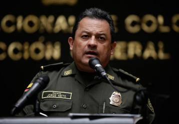 El director de la Policía, general Jorge Hernando Nieto Rojas. Foto: Colprensa
