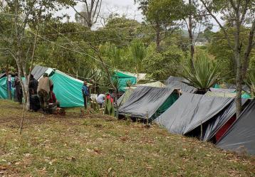 Zona veredal de Caldono, Cauca. Foto: Colprensa