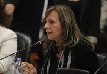 Ángela María Robledo, exrepresentante a la Cámara y fórmula vicepresidencial de Gustavo Petro. Foto: Colprensa. Marzo 2018.
