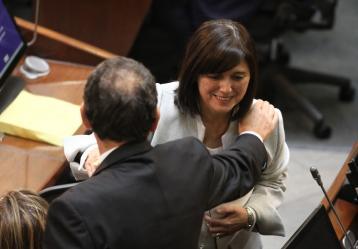 Elección de magistrados de la Corte Constitucional. En la foto: Diana Fajardo. Colprensa.